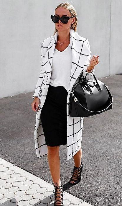 black and white fashion