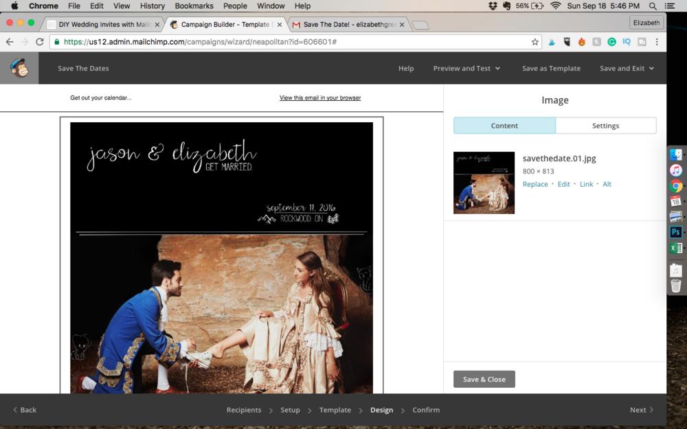 DIY Wedding Invites Save The Dates Using MailChimp Plant Based - Mailchimp invitation template