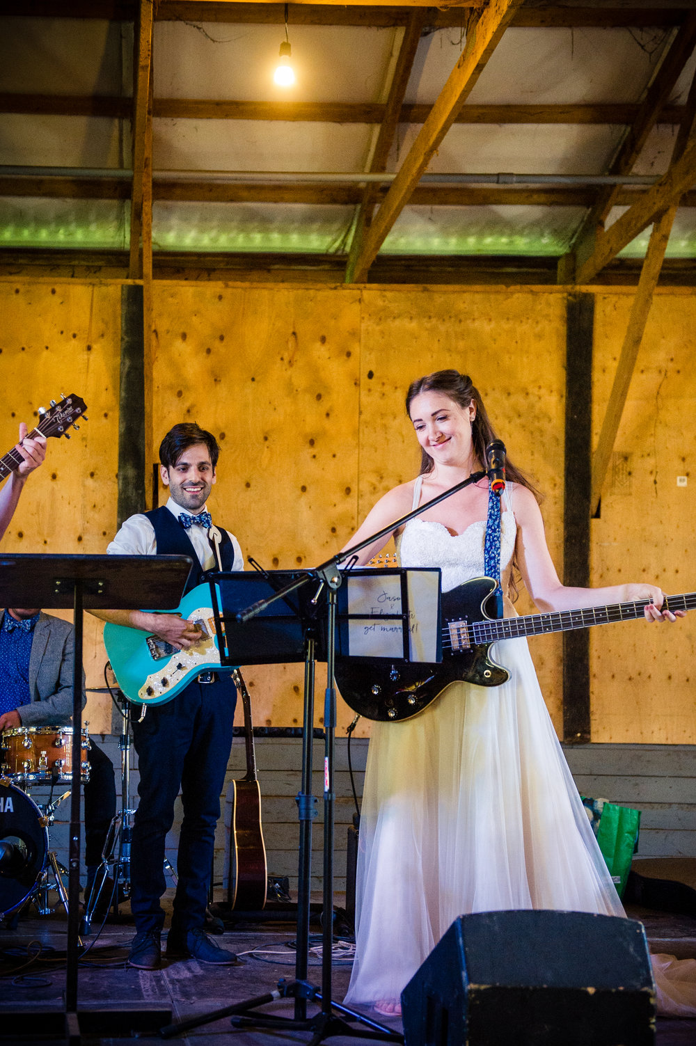When you're your own wedding band... // Plant Based Bride // Shot by Karmel Kreative