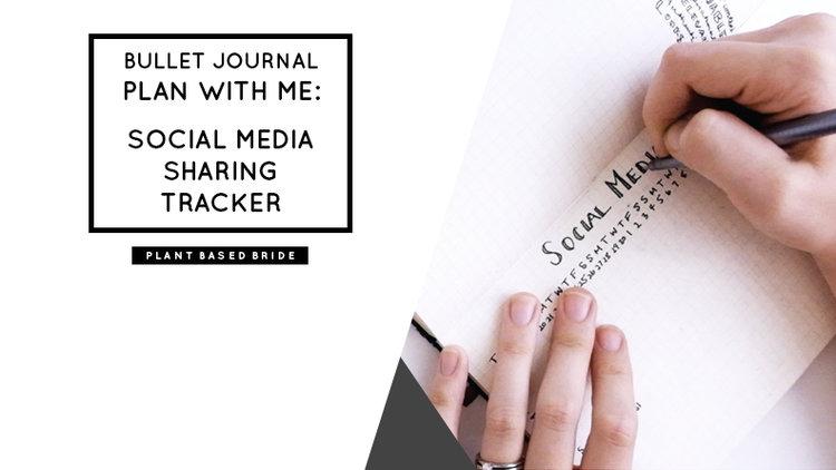 bullet journal plan with me social media sharing tracker plant