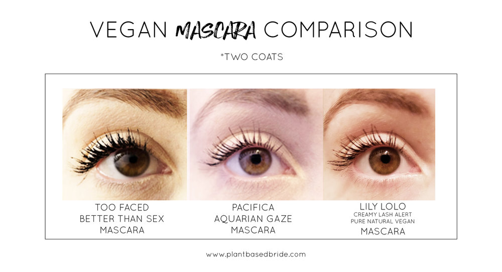 Vegan mascara comparison // Plant Based Bride