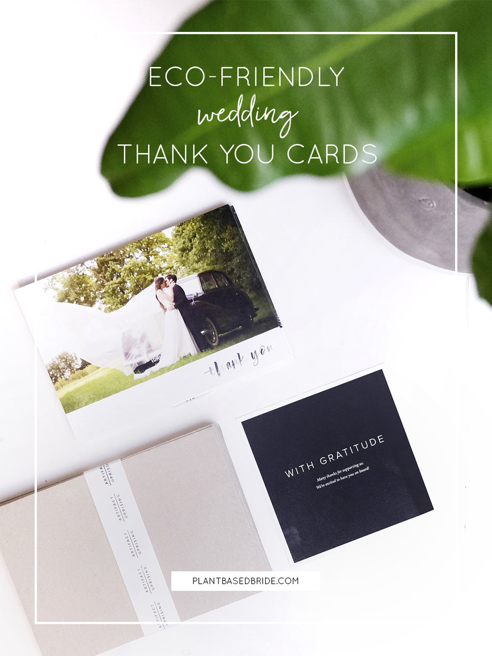 Eco-Friendly Wedding Thank You Cards! // Plant Based Bride