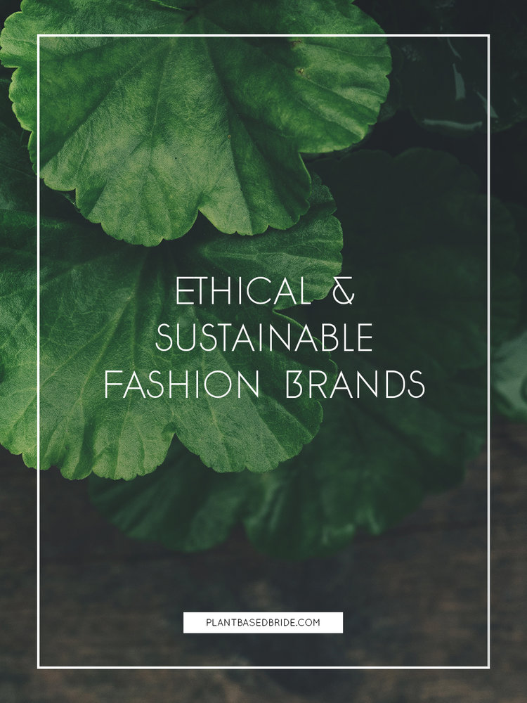 ethical sustainable fashion brands plant based bride
