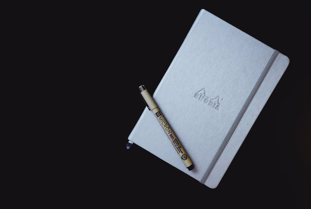 Rhodia Webnotebook Bullet Journal // Plant Based Bride