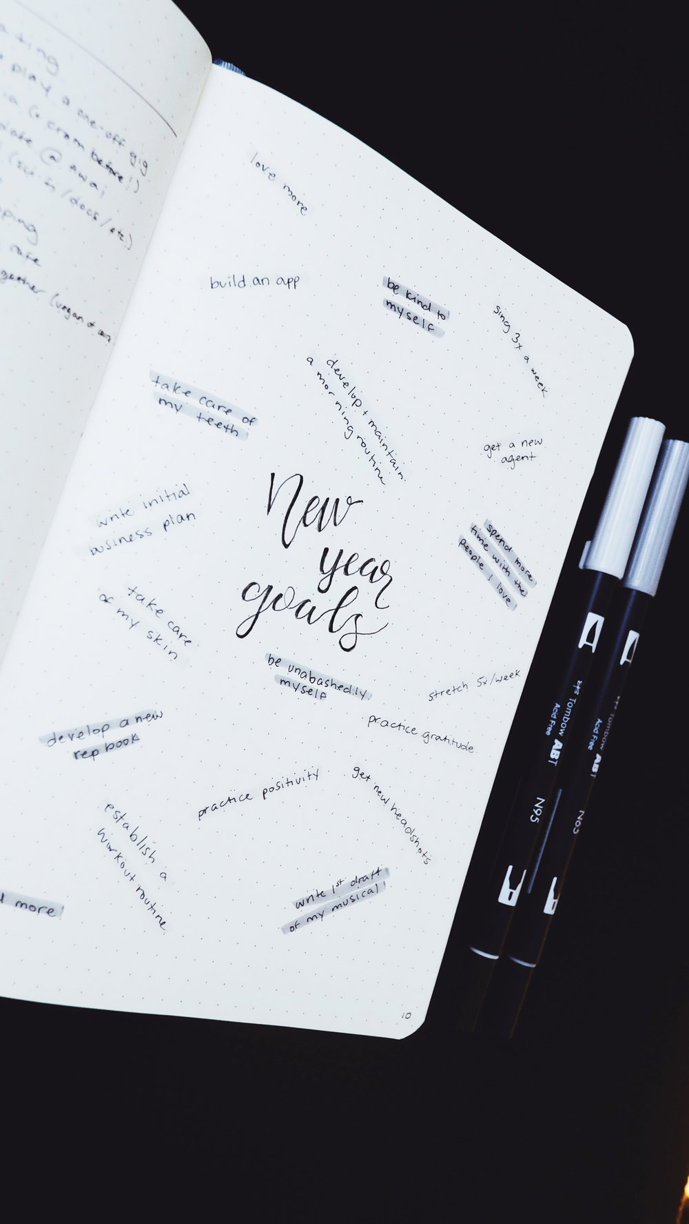 New Year Goals 2018 Bullet Journal // Plant Based Bride