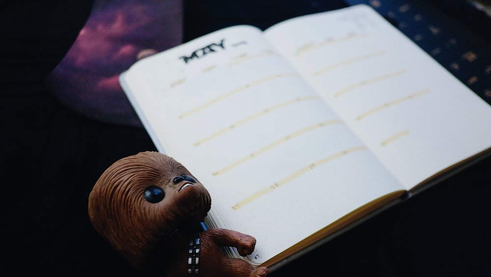 May 2018 Bullet Journal Star Wars Theme // Plant Based Bride
