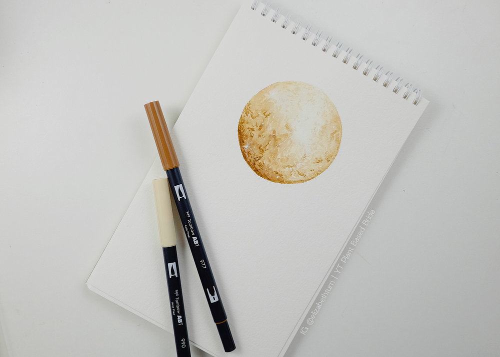 Tombow Moon Tutorial // Plant Based Bride