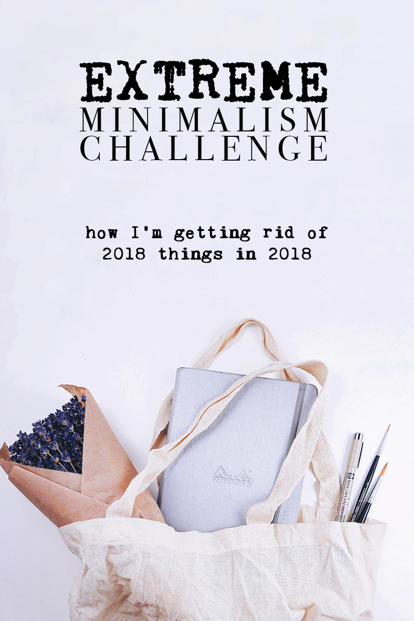 How am I getting rid of 2018 things in the last couple months of 2018?  Using the classic #MinimalismGame format, of course!  But this time it's the #2018MinGame! // Plant Based Bride