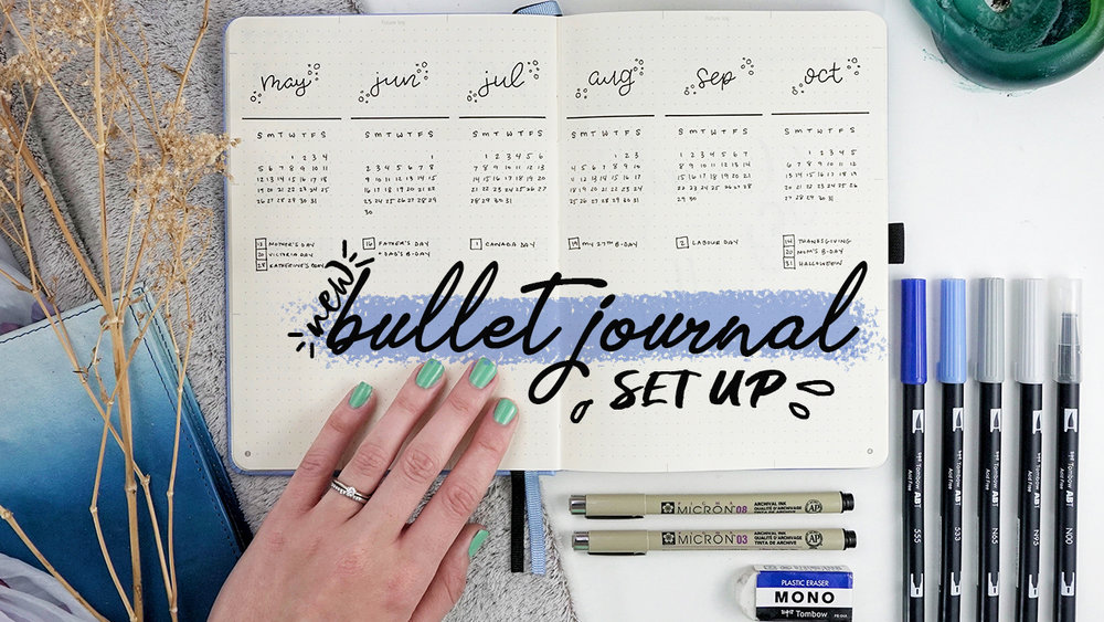 New Bullet Journal Set Up... Migrating into a new BuJo! // Plant Based Bride