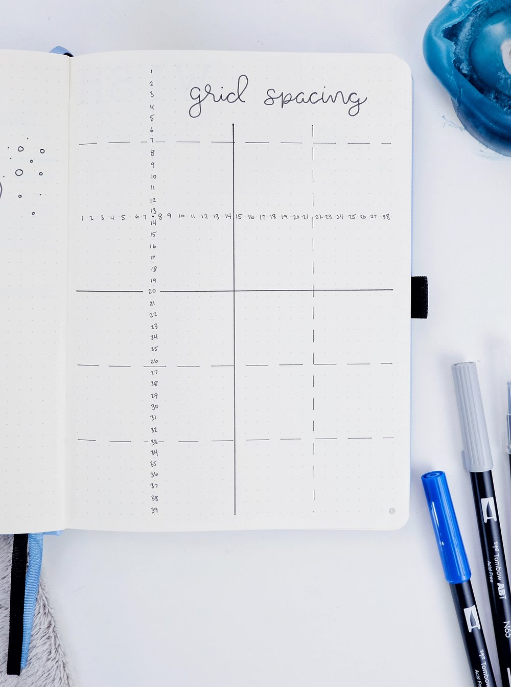 Bullet Journal Grid Spacing Reference Page // New BuJo Set Up 2018 // Plant Based Bride
