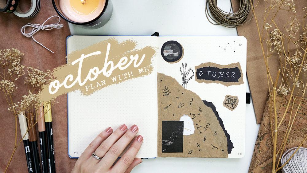 Bullet Journal Plan With Me October 2018 // Plant Based Bride