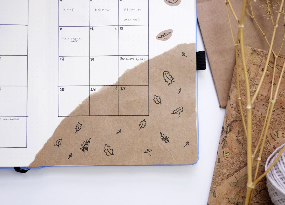 October Bullet Journal Monthly Cozy Fall Theme // Plant Based Bride