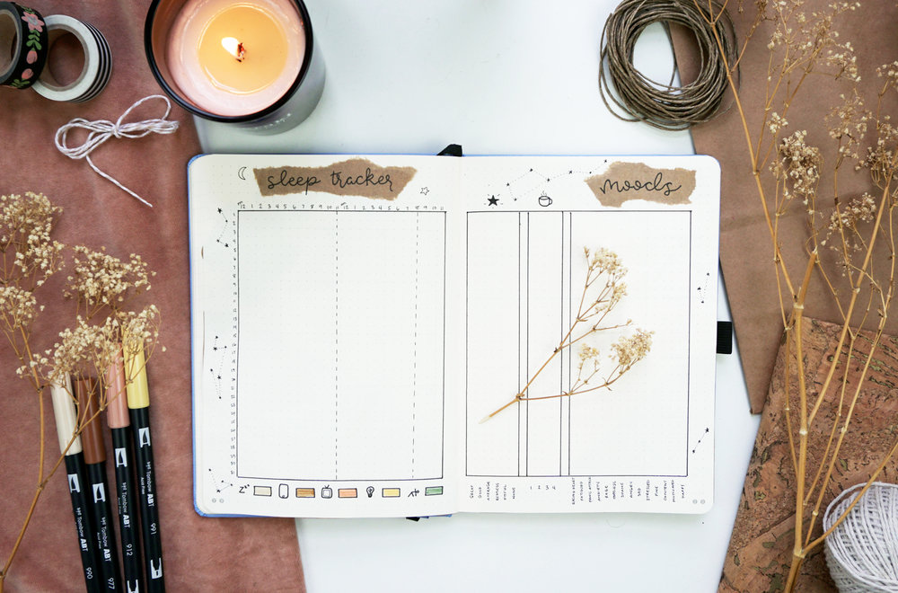 Sleep and Mood Tracker October Plan With Me Cozy Fall Theme // Plant Based Bride