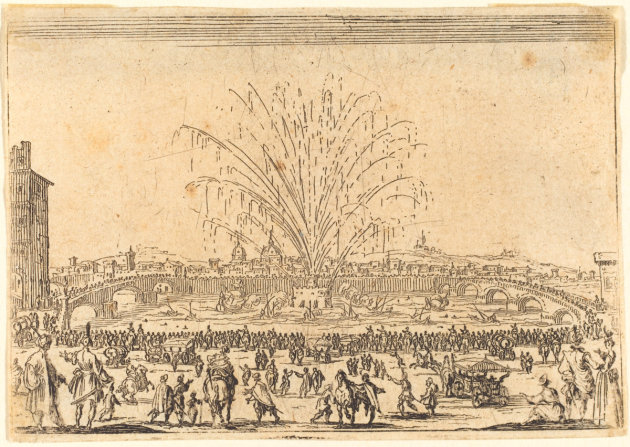 Fireworks on the Arno Painting