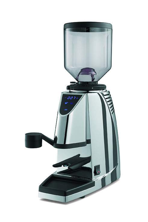 92 Touch Grinder   Featuring digital timing of grinding for single and double shots. Ground coffee is dispensed directly into group handle. Available with conventional or conical burrs. Metallic colours or chrome.  For more information on this product  click here.