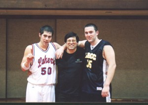 Brothers played against each other in college.