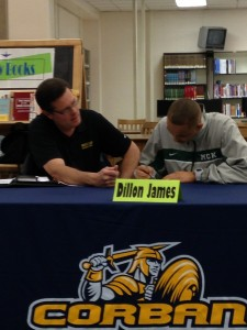 Coach Steve Masten signs Dillon James