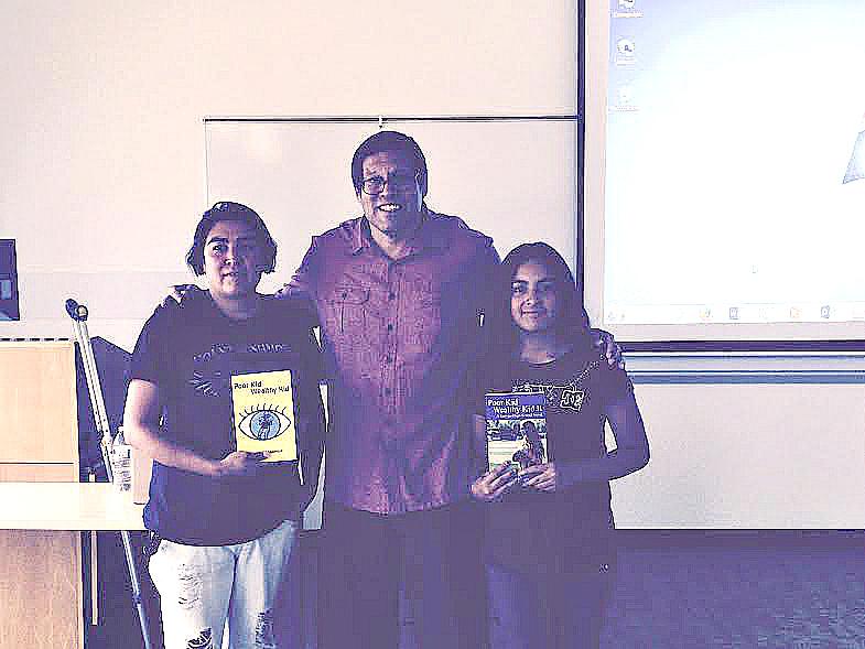 Salma's Mom, Me, and Salma Who Holds a 4.0 GPA.