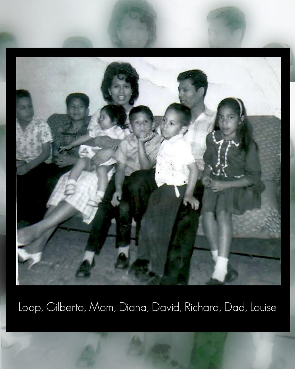 The Espinoza family in the 1960s.