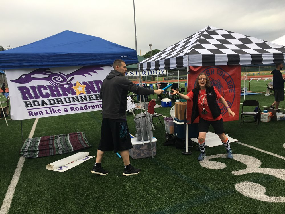 2017 Early Morning Setup - Matt Espinoza with Step-mom, Loni Espinoza.