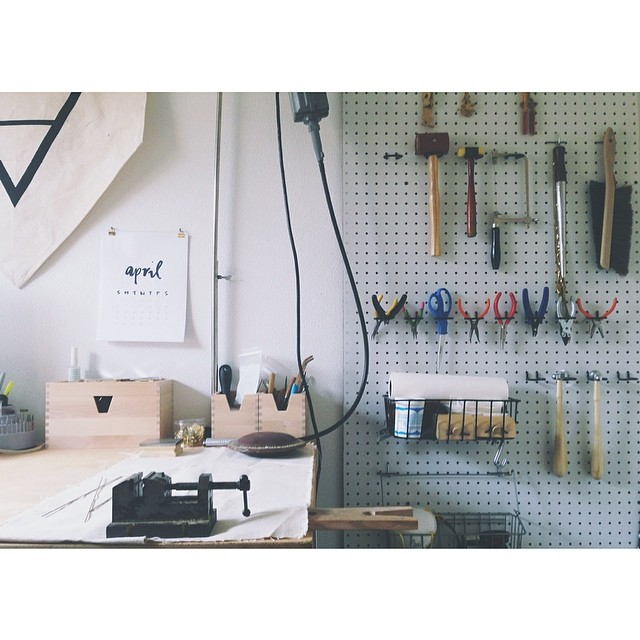 Do what you love. Love what you do. #hiddenvicesjewelry #theroadtoremake #workspace