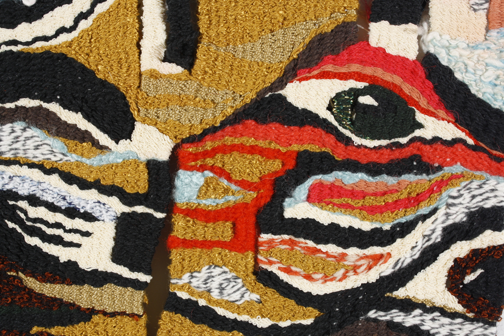 BLANKET, detail.   Private collection.