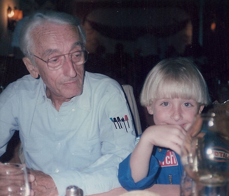 Philippe at 6 with his grandfather