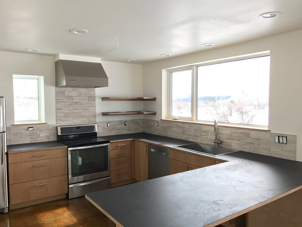 Gunmetal-color Paperstone Countertops from Greenhome Solutions in Seattle.