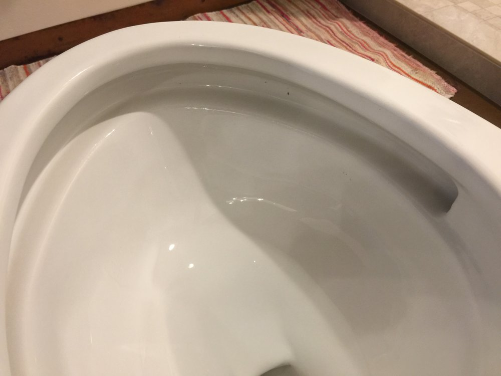 Toto's patented Tornado Flush™ Flushing System whirls water around just inside the top of the rim in cyclonic fashion.It really works.