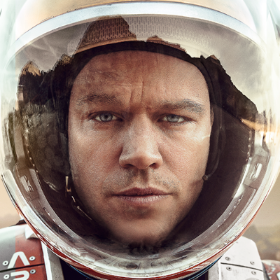 The Martian    Adapted from Andy Weir's bestselling novel, this film tells the story of Mark Watney, a botanist on a mission to Mars who, in an unfortunate turn of events, finds himself stranded on the Red Planet alone, with limited food and supplies. Armed with an unwavering desire to survive (and the ability to grow potatoes), Watney sets out to keep himself alive until a rescue crew can come back for him – in four years. Starring Matt Damon and directed by the king of sci-fi himself, Ridley Scott,  The Martian  looks to be a thrilling movie about human ingenuity and compassion. And, you know, Mars.