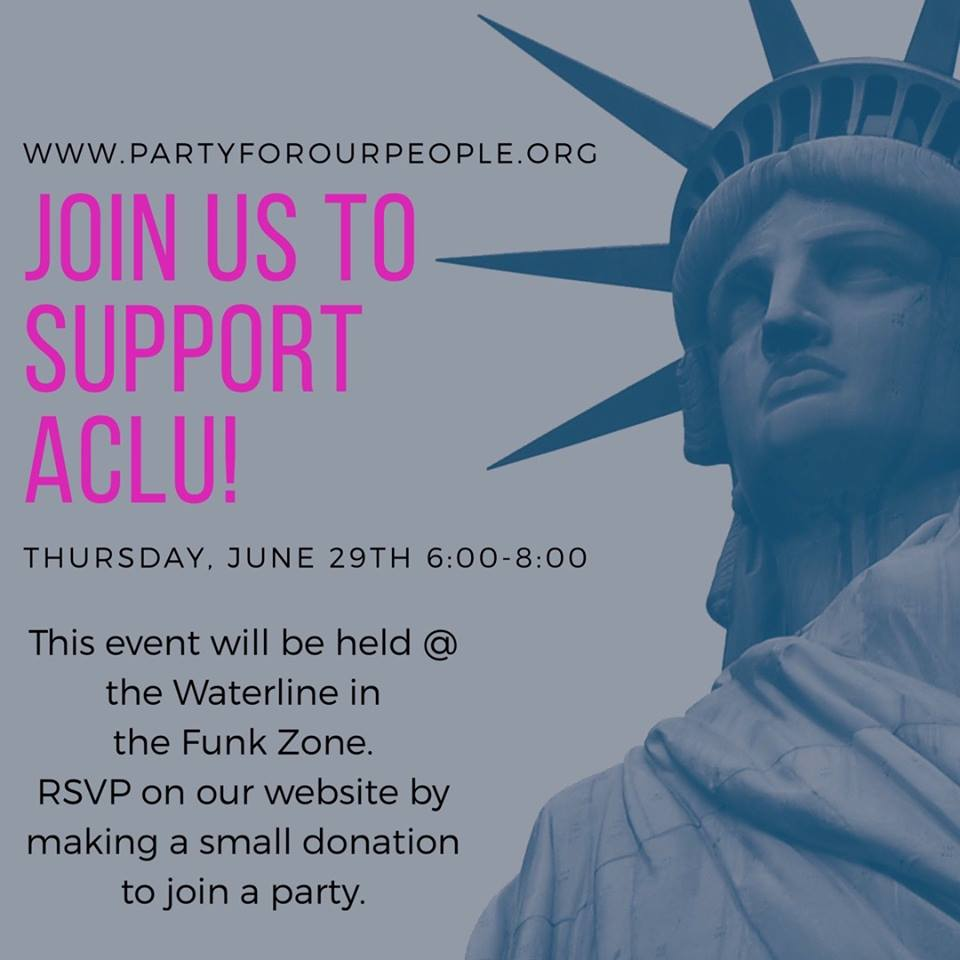 june 29, 2017  I   6:00 - 8:00pm  support ACLU with party for our people and jules by the sea