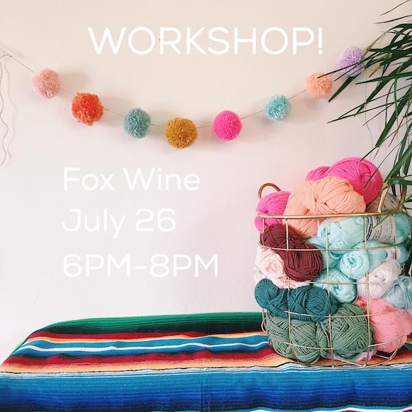 july 26th  I  6:00 - 8:00pm fiesta pom pom workshop with @sundaysdesignstudio