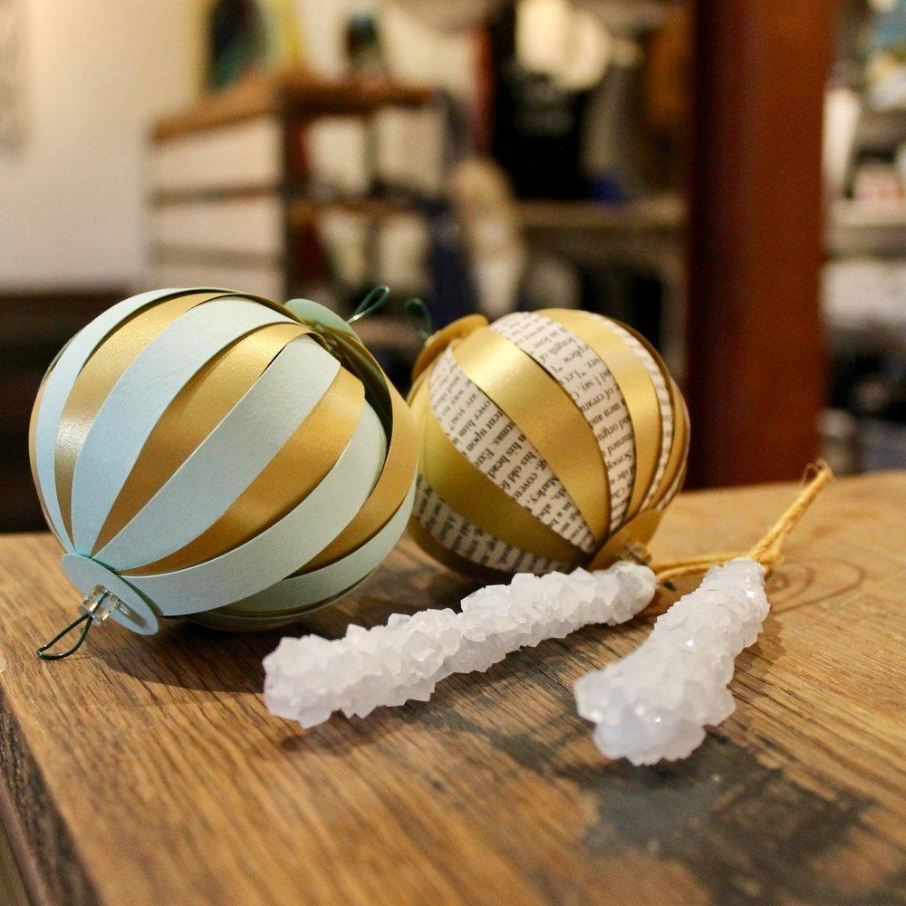 november 25th, 2017 I 12:00 - 1:30pm ornament making workshop