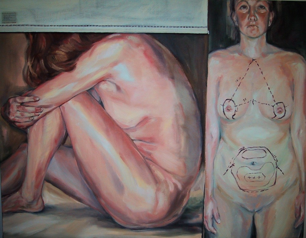 "Flesh As Fabric   o/c   48"" x 60"""