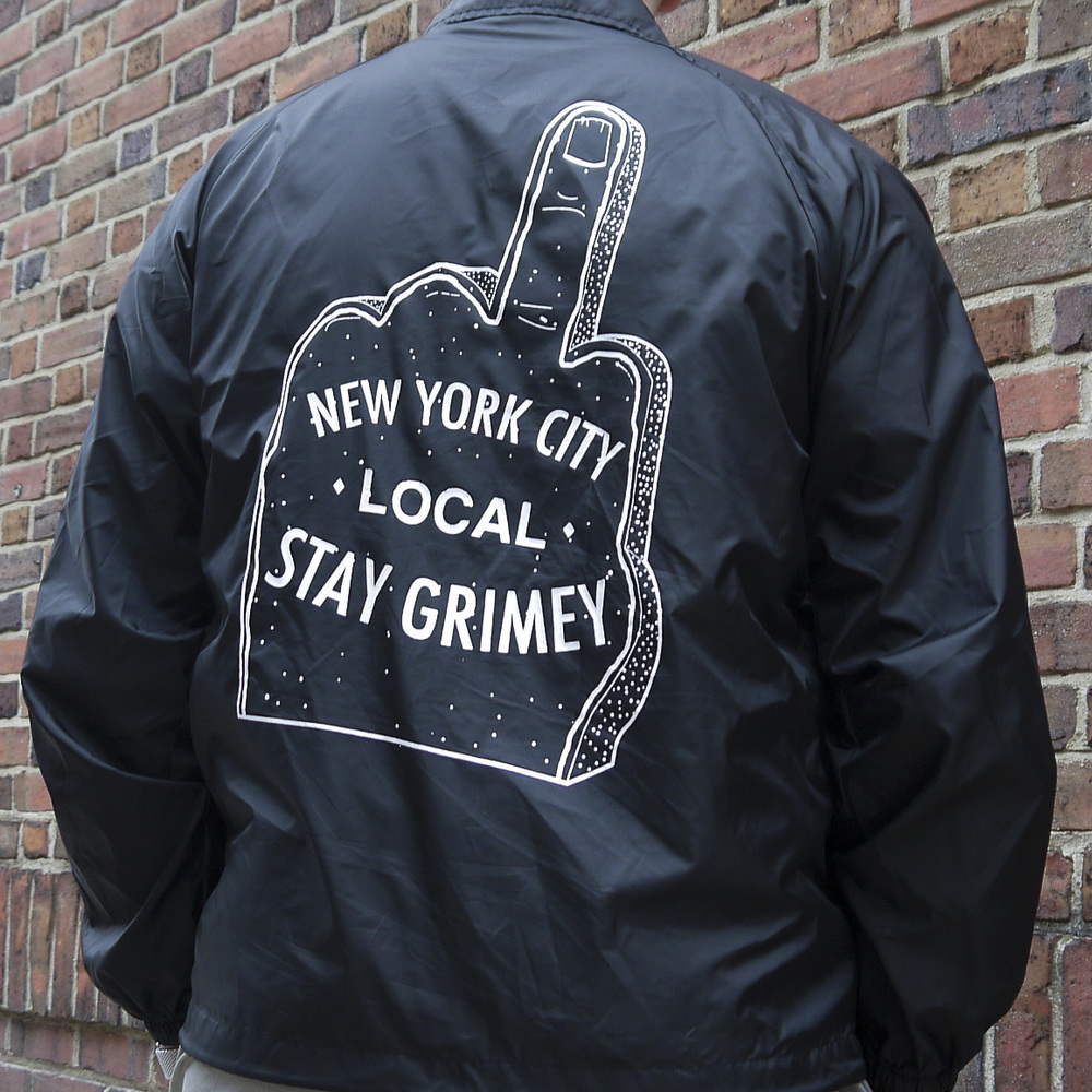 "Despierta NYC Black Coaches Jacket ""Stay Grimey"""