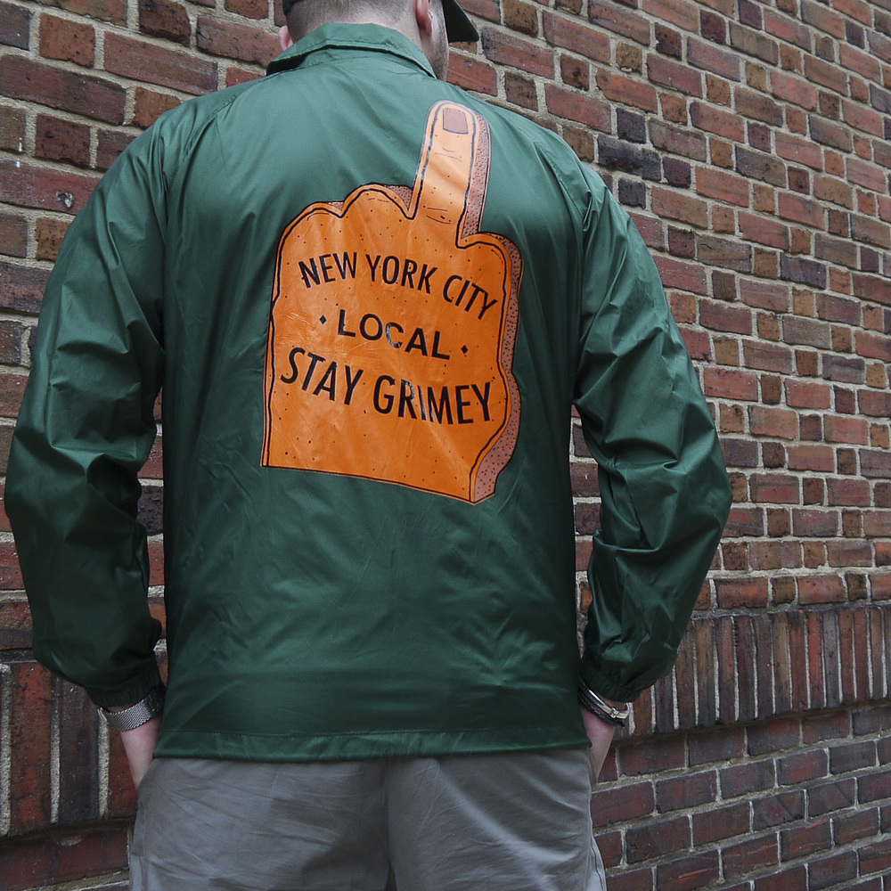 "Despierta NYC Green Coaches Jacket ""Stay Grimey"""