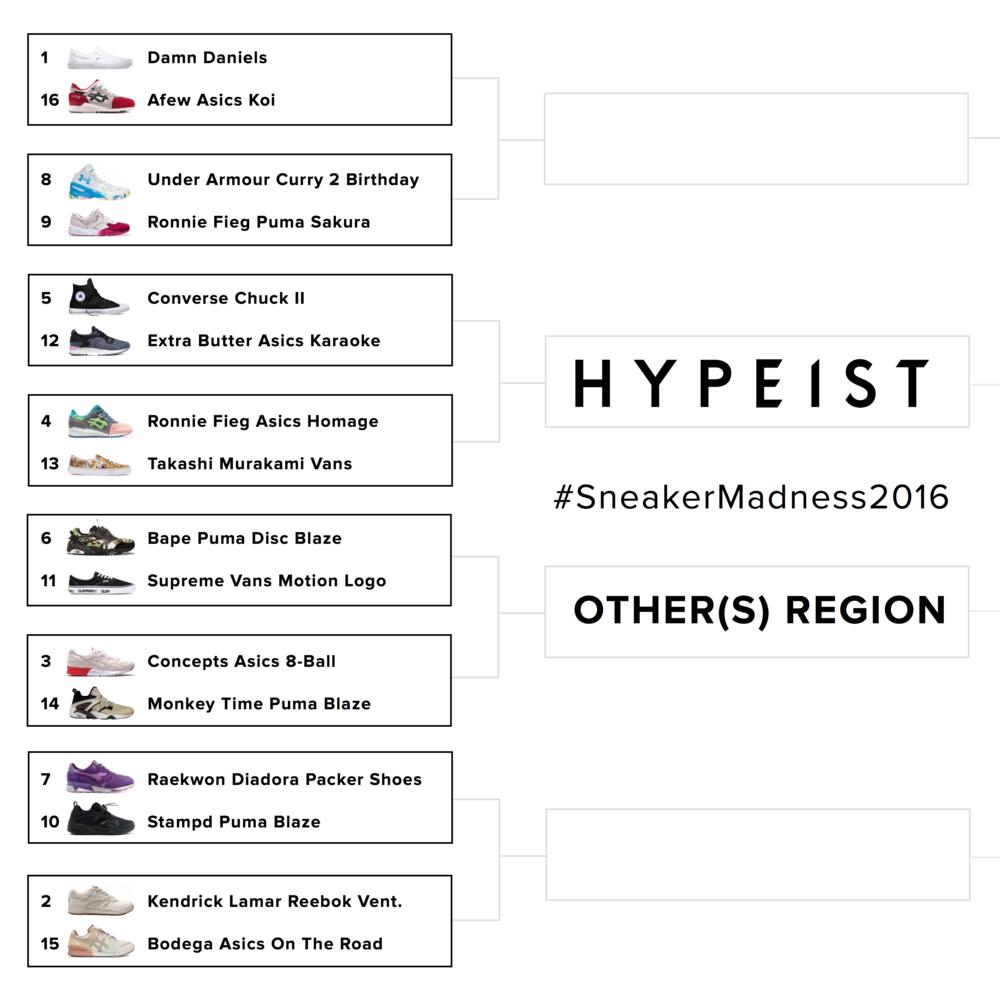 Hypeist Sneaker Madness 2016 Asics New Balance Puma