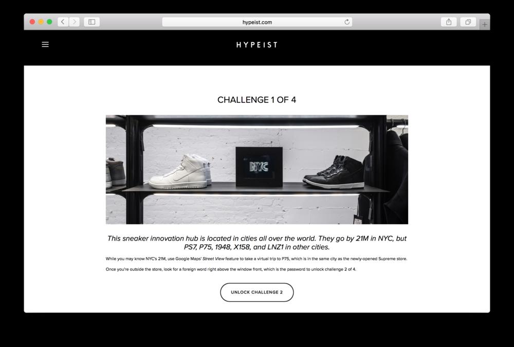 Sneakerbox - Challenge 1