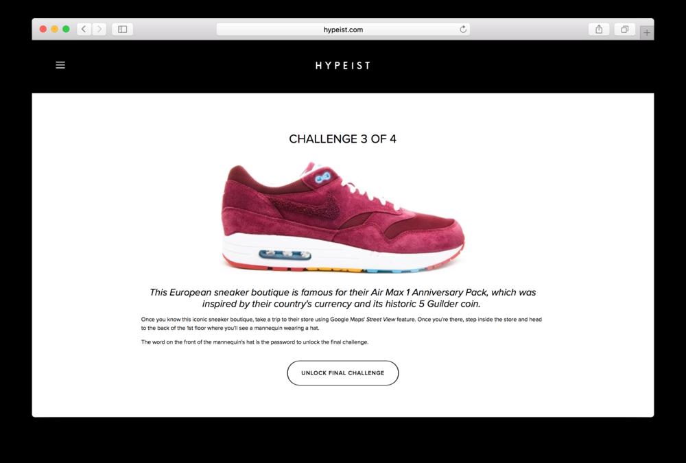 Sneakerbox - Challenge 3