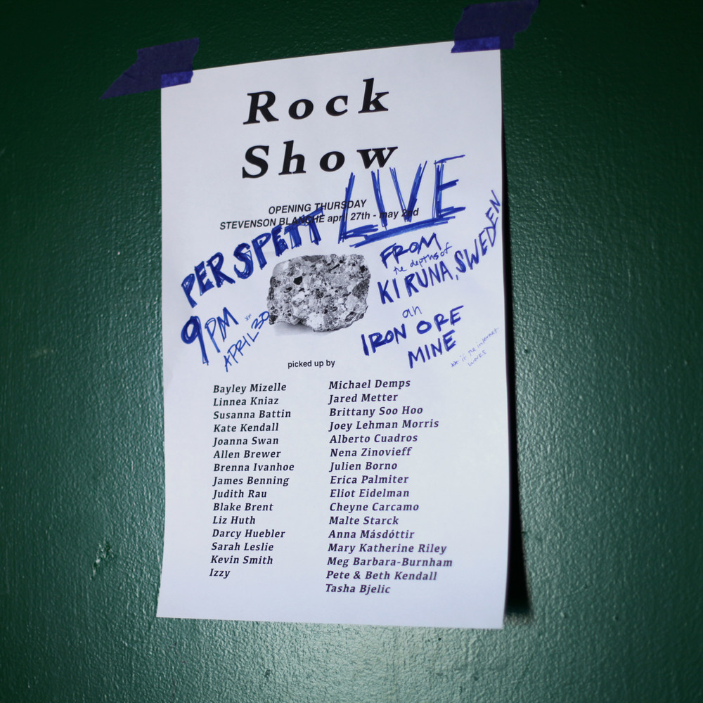 Rock Show  poster in collaboration with  Susanna Battin .