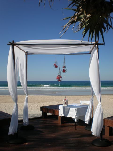 Bamboo Arbour with Chiffon