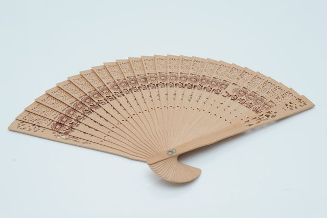 Wooden Fan - Hire for $2 each