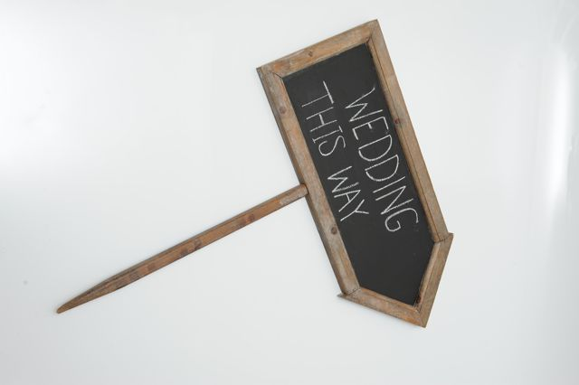 Arrow Blackboard on Stick - Hire for $10 each