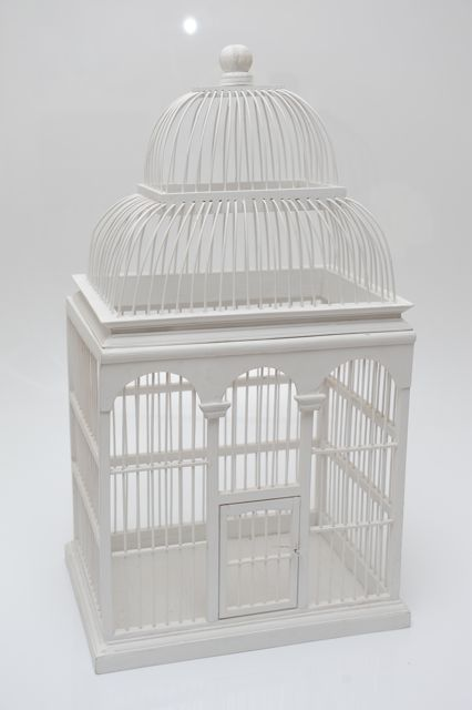 """Daffy"" - Birdcage White Large - Hire for $30"
