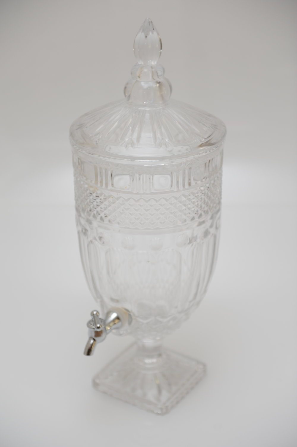 Crystal cut drink dispenser