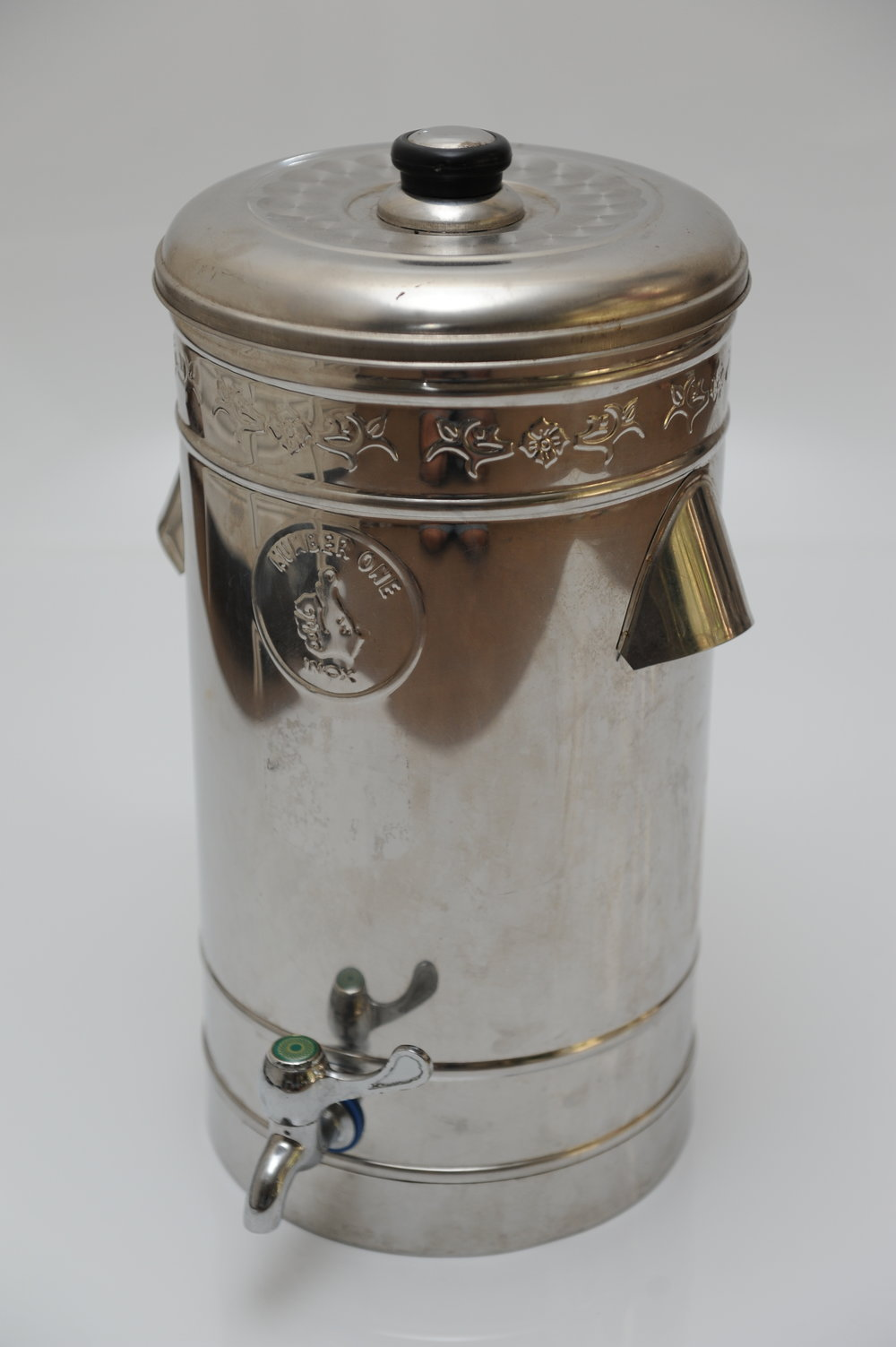 Silver drink dispenser