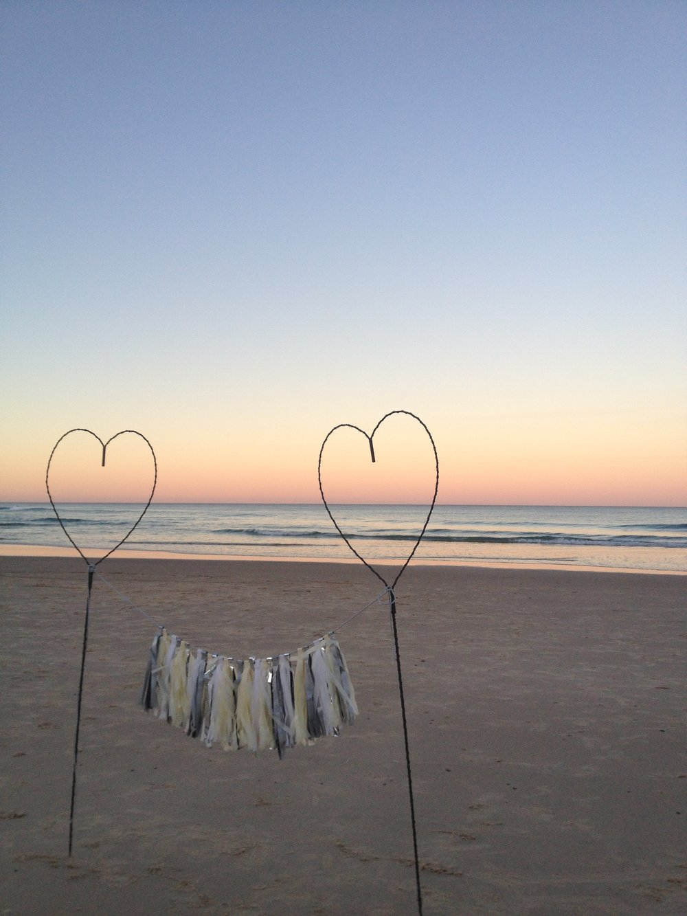Heart Sticks (with fairy lights) - Hire 2 for $20
