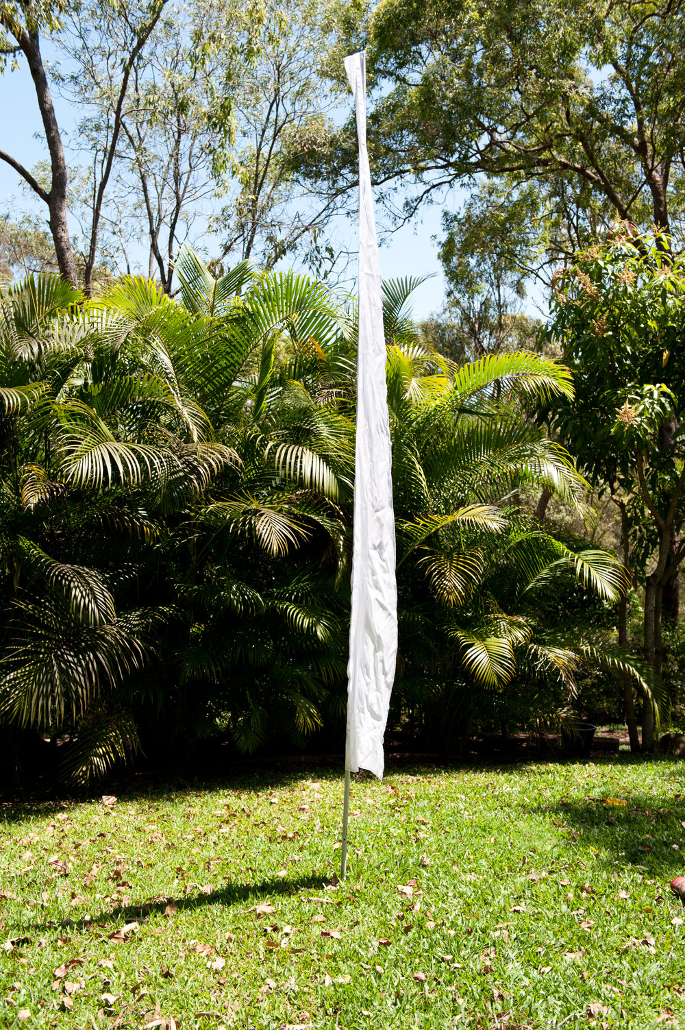 White Flag Poles - Hire for $7.50 each