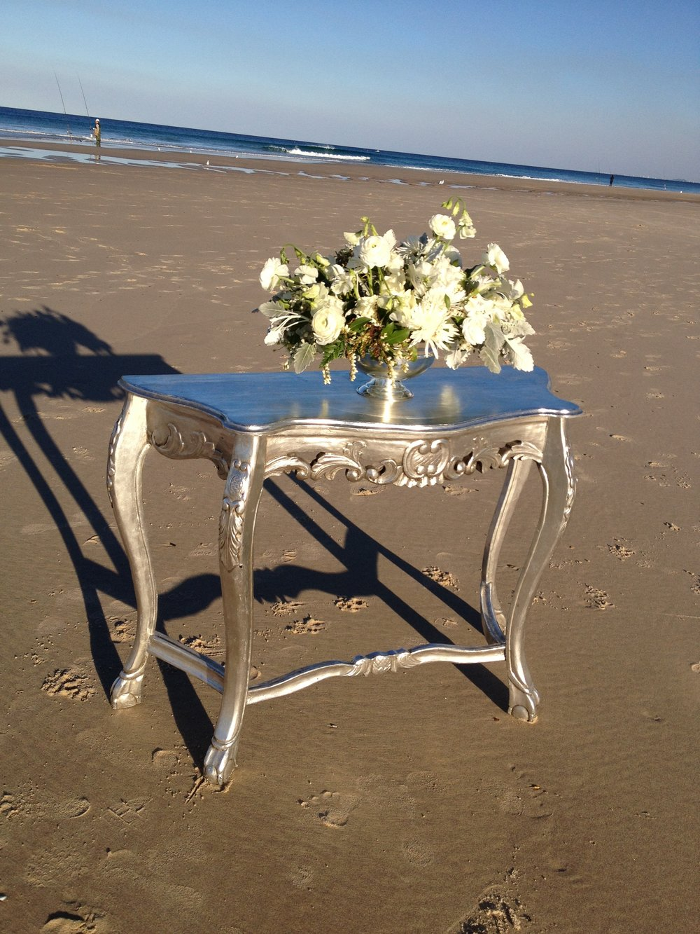 Antique Silver Table