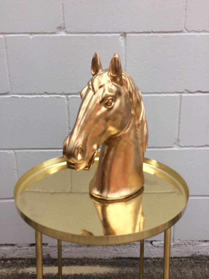 """Winx"" Gold Horse Head - Hire for $15"